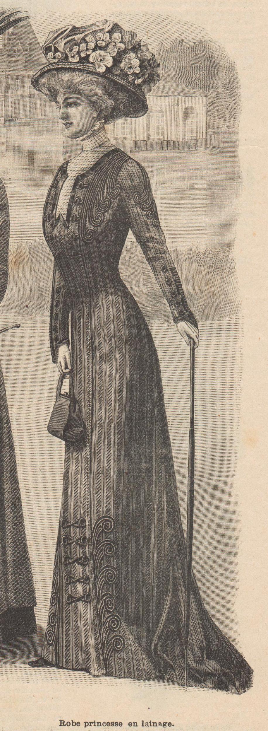 1909 robe princesse