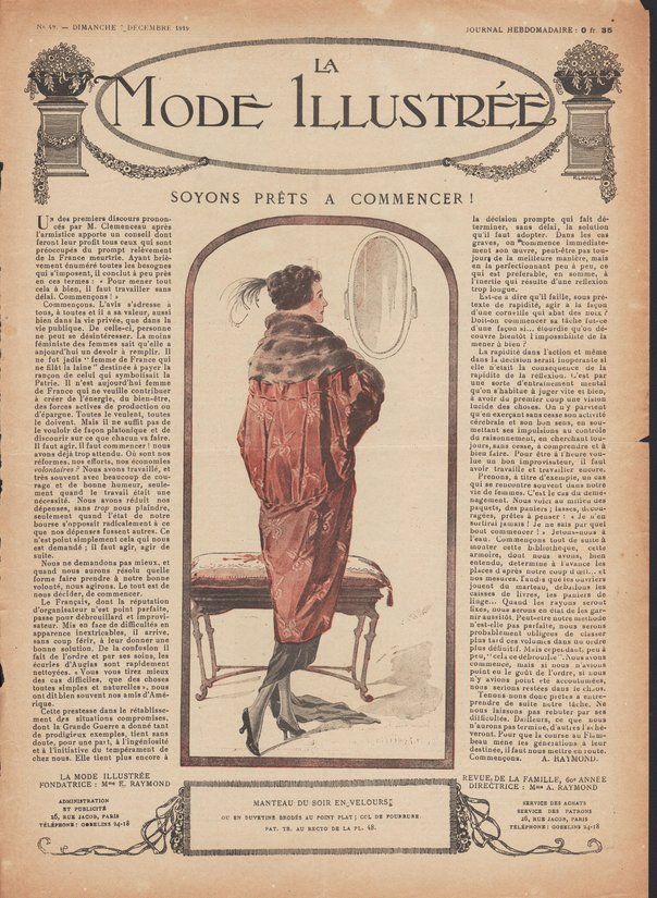 1919 manteau