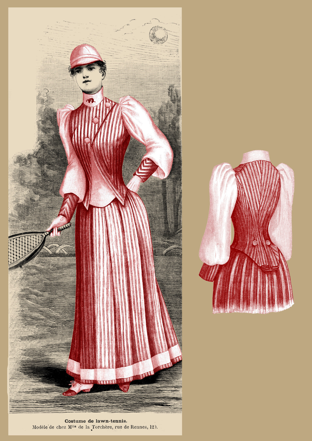 costme tennis 1891