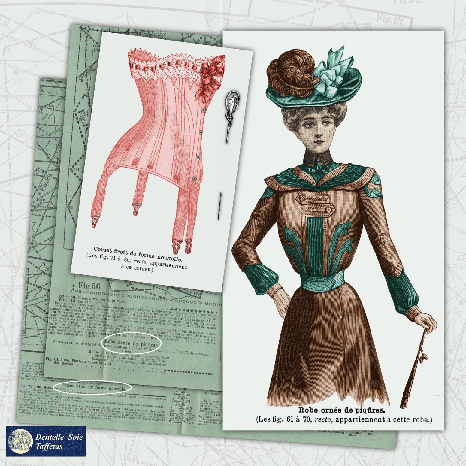 corset et robe de 1900