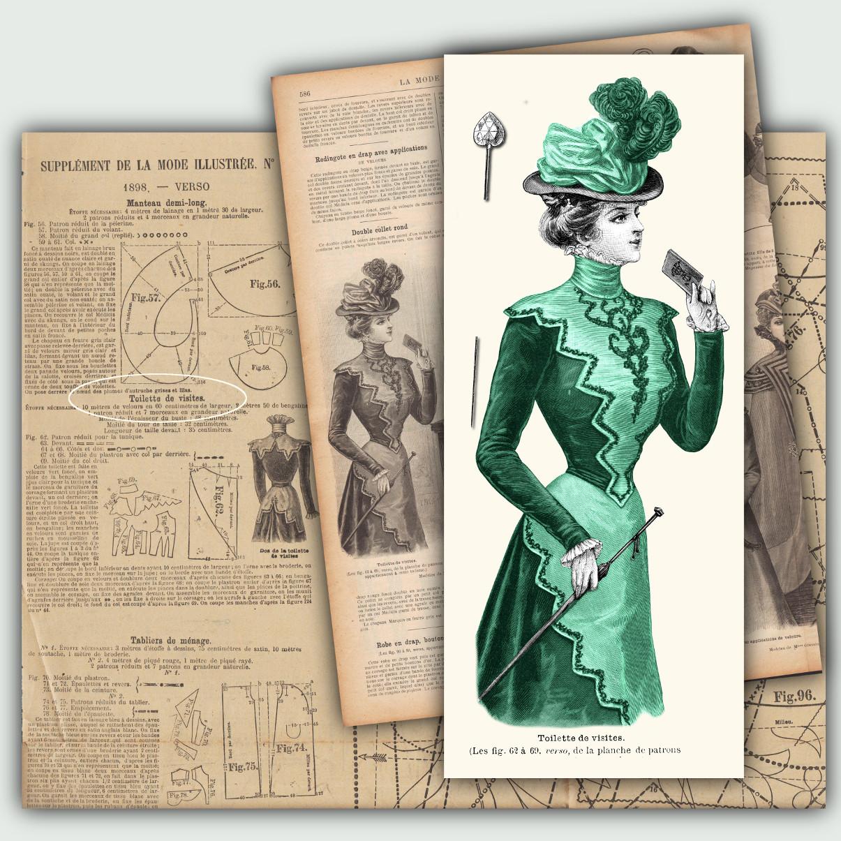 patrons toilette 1898