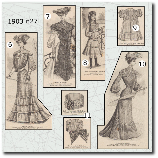 revue et patrons la mode illustrée 1903 N°27