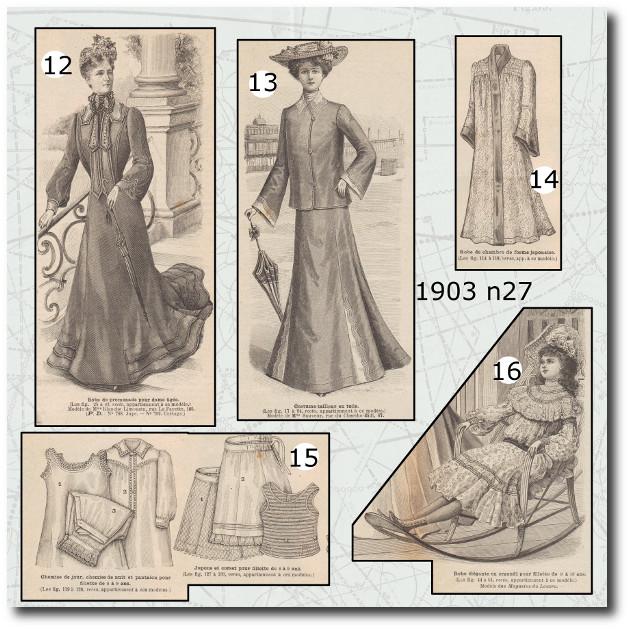 revue et patron la mode illustrée 1903 n27