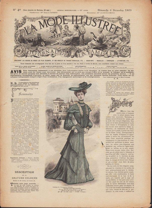 la mode illustrée 1903 N°49