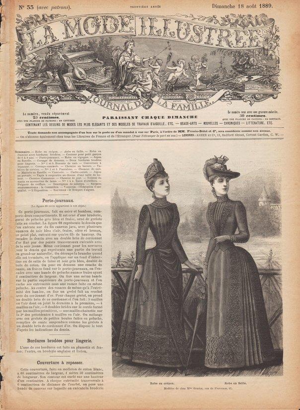 sewing patterns 1889