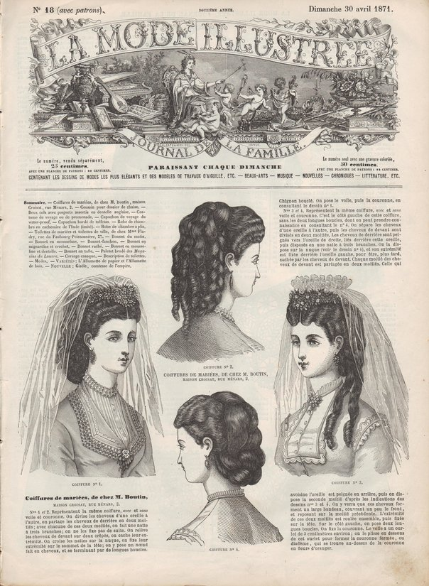 robe de mariées en 1871