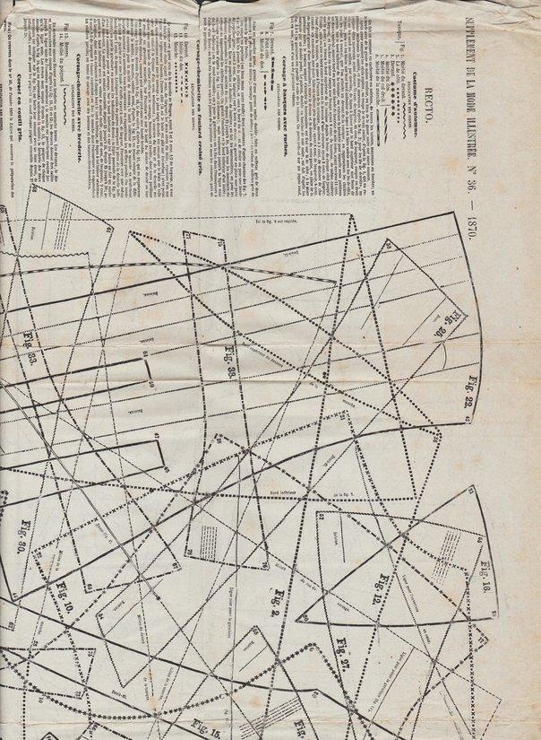patrons de corsets en 1870