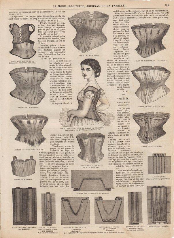 revue et patron de corset de 1870