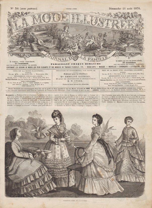 corsages en 1870