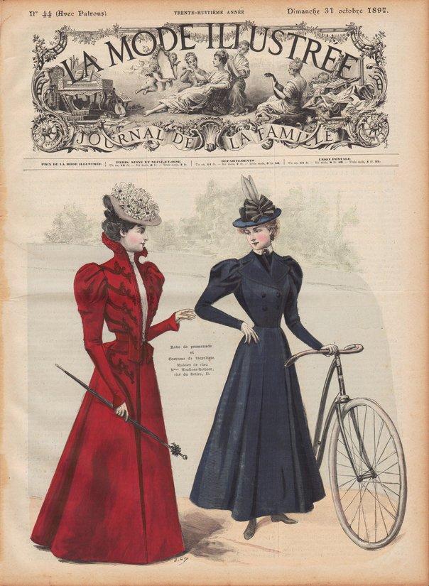 costume de bicyclette 1897