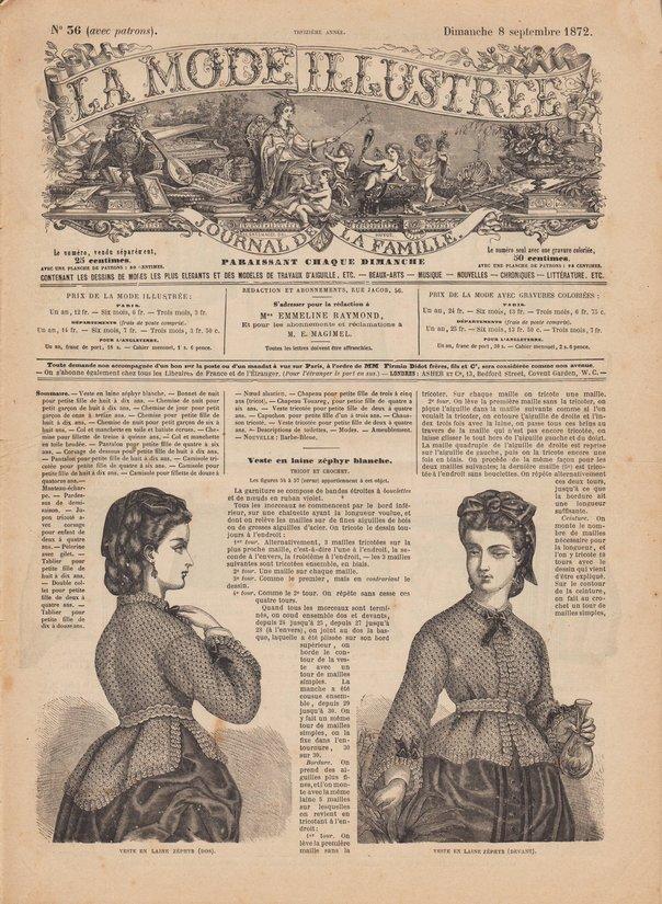 patrons mode illustrée 1872