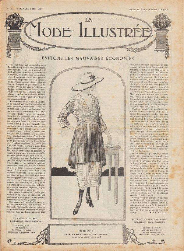 1920, robes, jupons et chapeaux