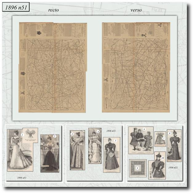 patrons de robes de bal 1896