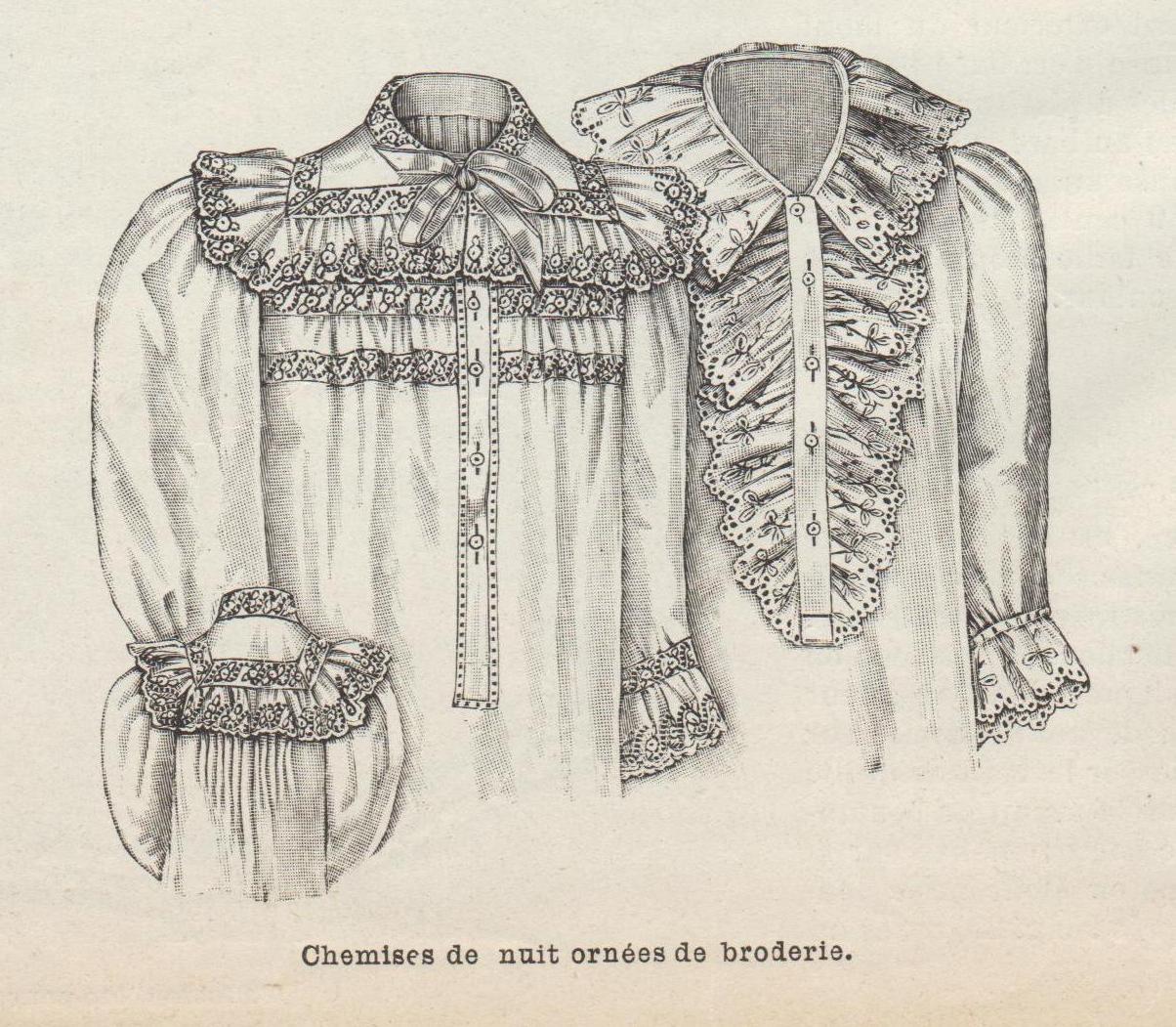 chemise de nuit 1896