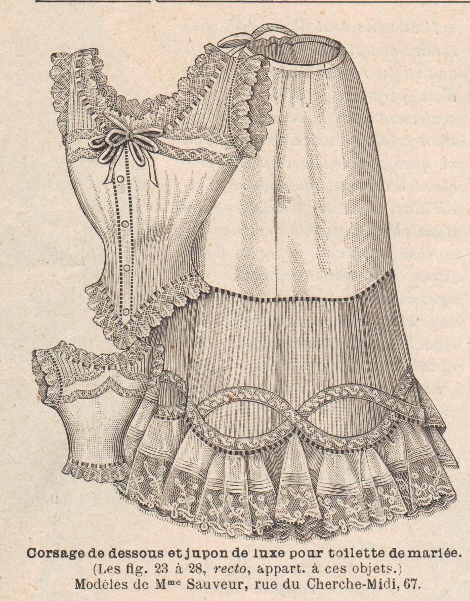 1901 corsage et jupon