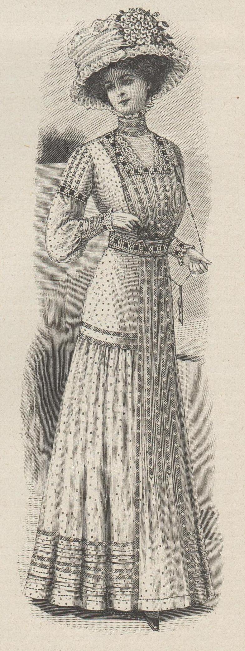 robe mousseline brodée 1909