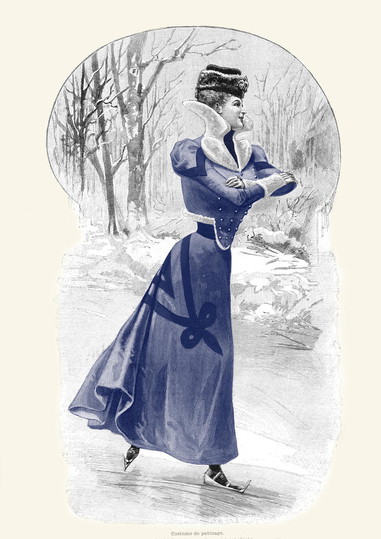 costume de patinage de 1898