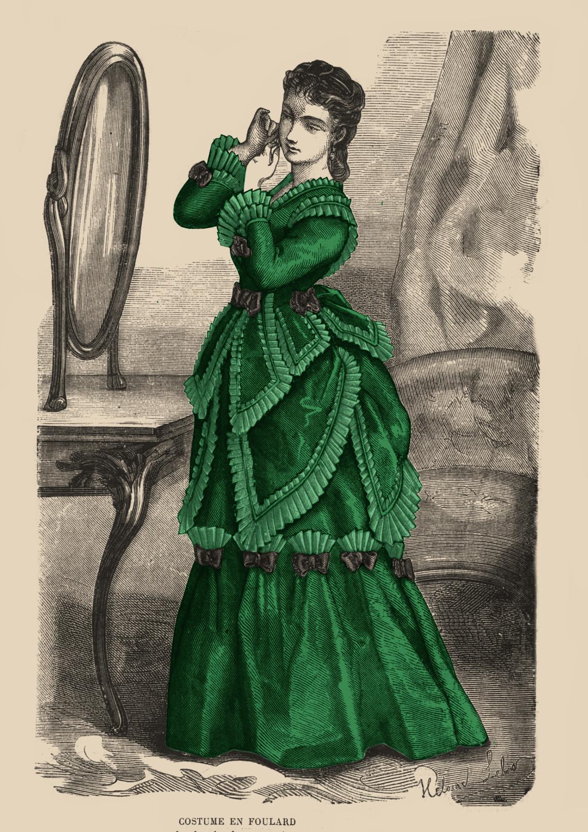 costume en foulard 1871