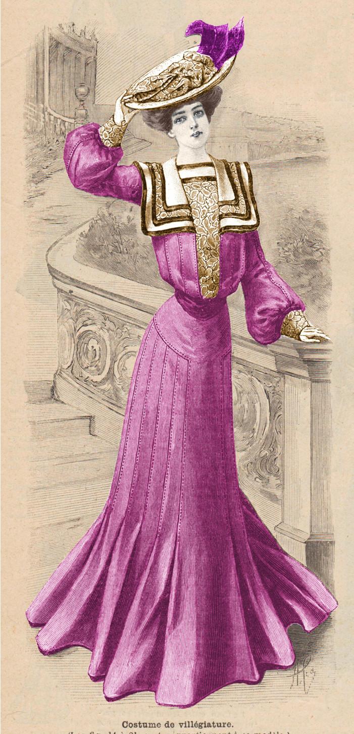 patron costume de villégiature