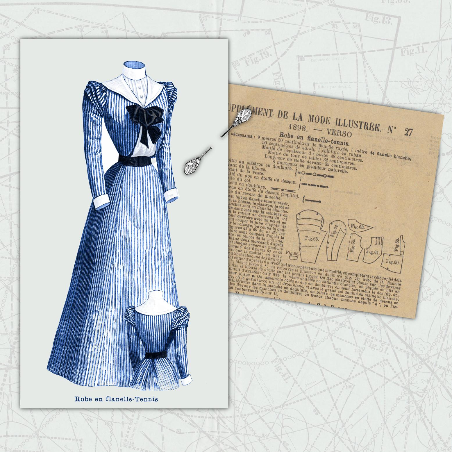 robe en flanelle 1898
