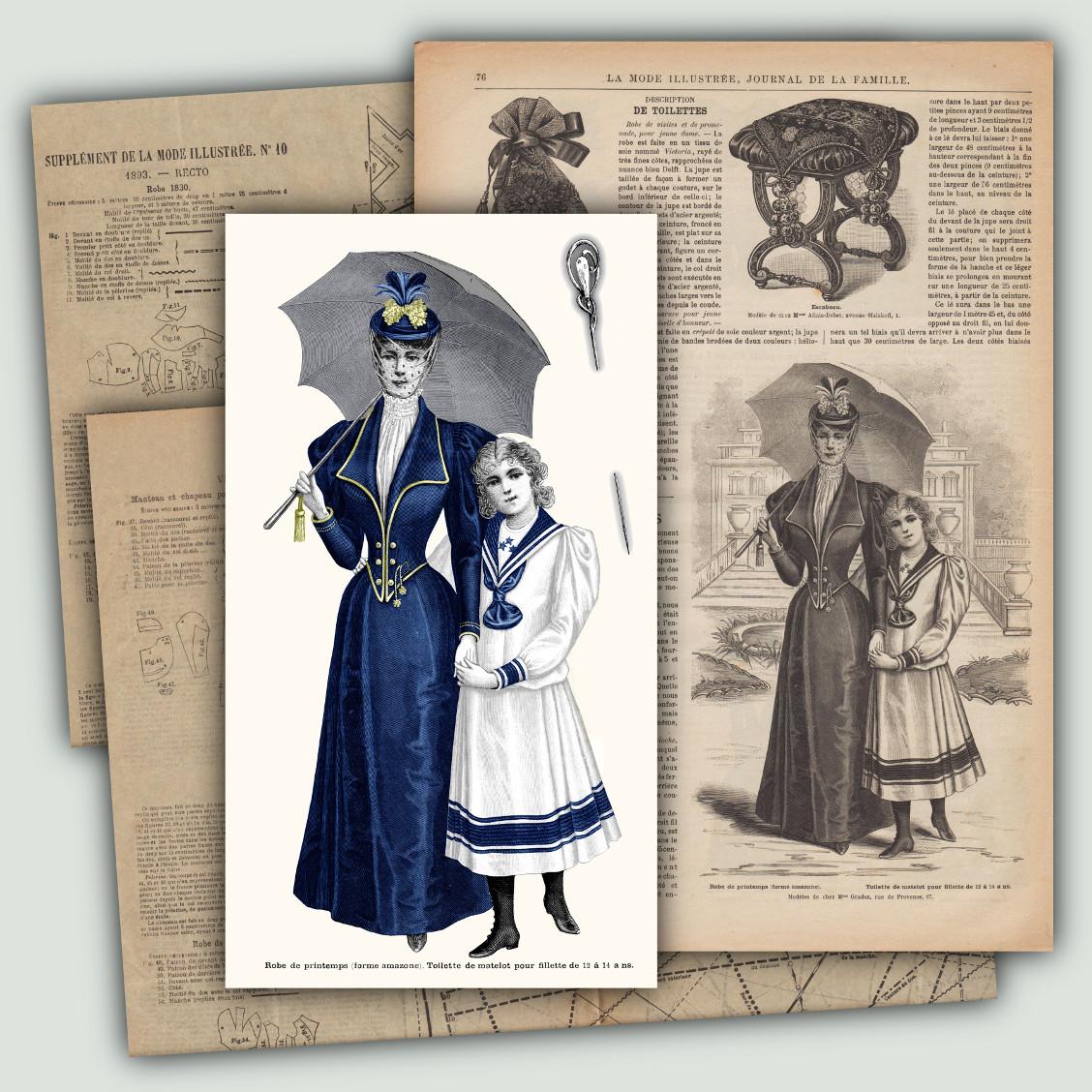 patrons robe amazone 1893