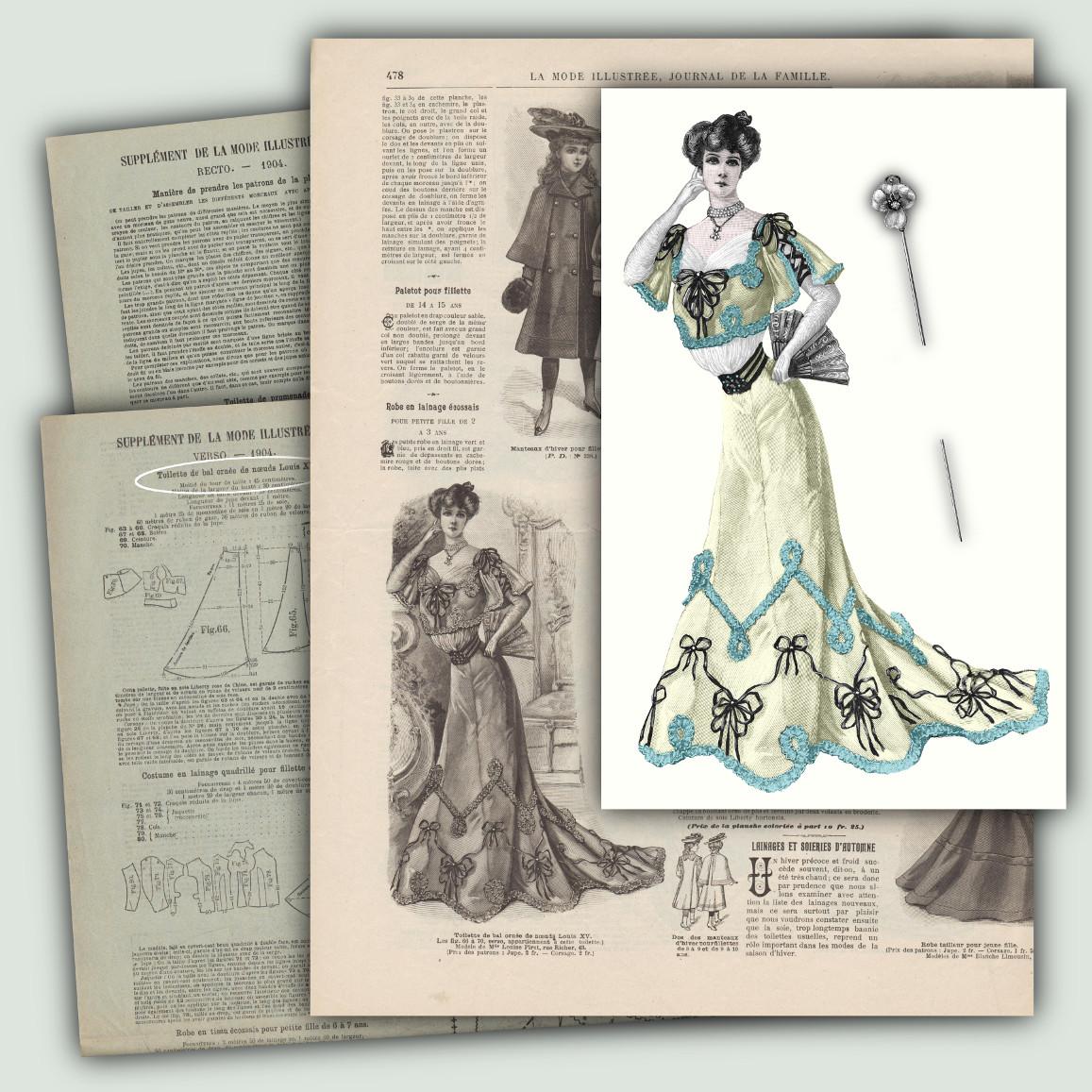 robe de bal de 1904